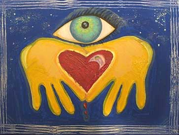 Heart, Hands, and Eye Painting